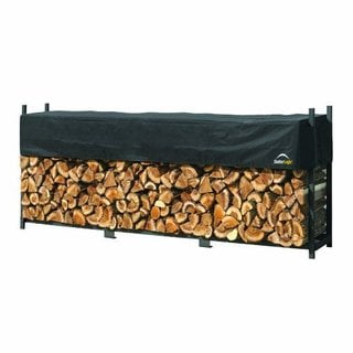 ShelterLogic Ultra Duty 8-foot Firewood Rack with Cover