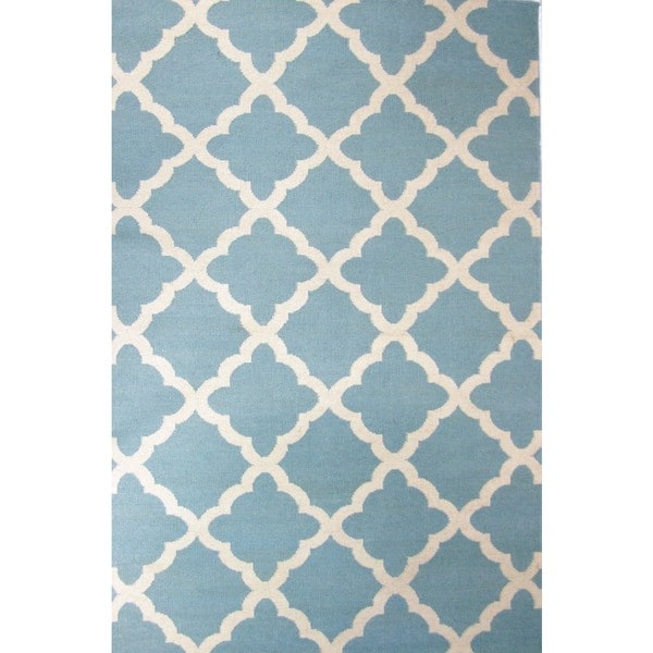 Flat Weave Sky Hand Woven Area Rug (8' x 11')