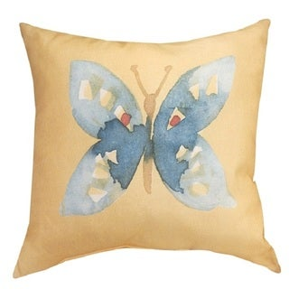 Butterfly Bliss Blue 20-inch Indoor/Outdoor Throw Pillow