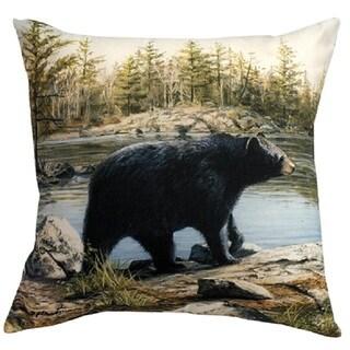 Black Bear 20-inch Indoor/Outdoor Throw Pillow