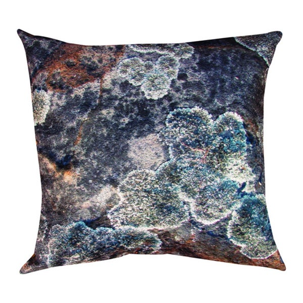 Natural Detail Lichen 18-inch Throw Pillow