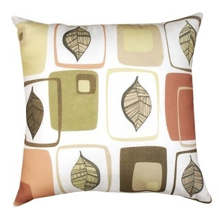 Deco Leaf 16-inch Throw Pillow