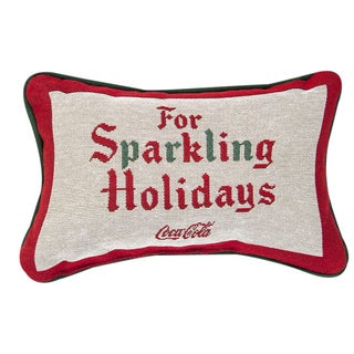 Coke Sign Holiday Throw Pillow