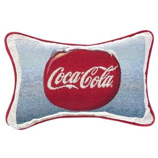 Coke Sign/ Coke Disk Throw Pillow