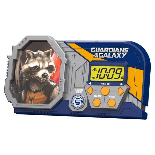Guardians of the Galaxy Alarm Clock with Sleep Timer Night Light