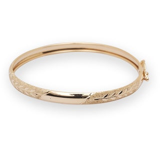 10k Yellow Gold 5.5-inch Flexible Baby Bangle Bracelet