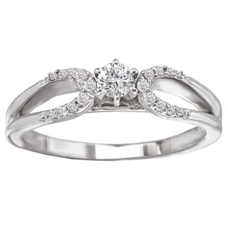 Avanti 14k White Gold 1/4ct TDW Round Brilliant Diamond Ring (G-H, SI1-SI2)