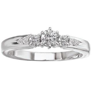 Avanti 14k White Gold 1/3ct TDW Round-cut White Diamond Engagement Ring (G-H, SI1-SI2)