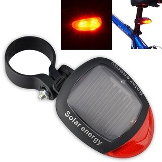 INSTEN 2 LED Bicycle Bike Solar Energy Power Rear Lamp with 3 Modes Lights