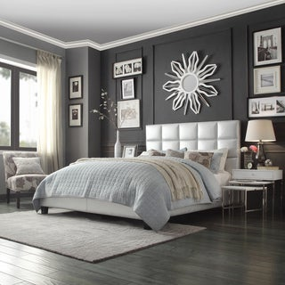INSPIRE Q Fenton Silver Panel Upholstered Bed