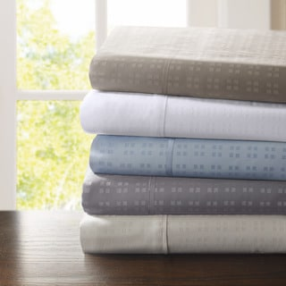 Madison Park 600 Thread Count Wrinkle-resistant 4-piece Dobby Dot Sheet Set