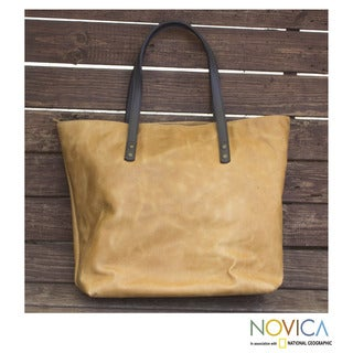 Leather 'City Life' Shoulder Bag (Mexico)