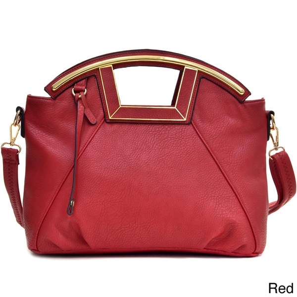 Dasein Soft Faux Leather Frame Handle Purse
