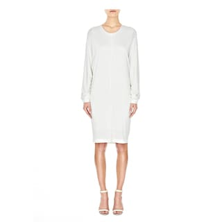 Alexander Wang Ivory Double-knit Dolman Sleeve Draped Back Dress