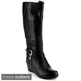 Reneeze Macy-02 Women's Knee-High Gothic Riding Boots