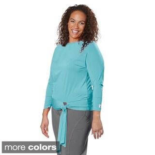 Live Life Large Women's Plus Size Long Sleeve Blouson Top
