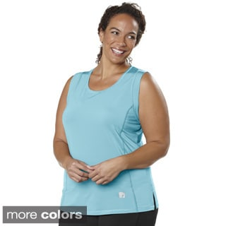 Live Life Large Women's Plus Size Tank with Power Mesh Liner