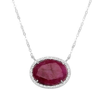 Sterling Silver Red Agate Necklace (Israel)