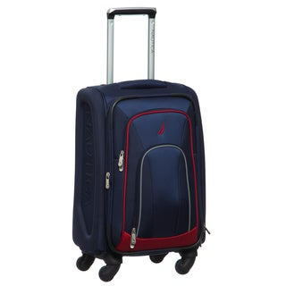 Nautica Timoneer 20-inch Expandable Carry On Spinner Upright Suitcase
