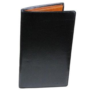 Castello Premium Italian Leather Coat Wallet (Black)(As Is Item)
