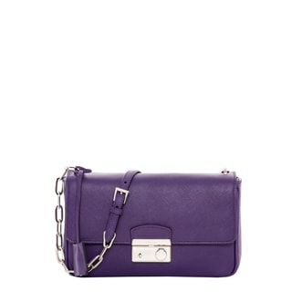 Prada Purple Saffiano Leather Flap Bag
