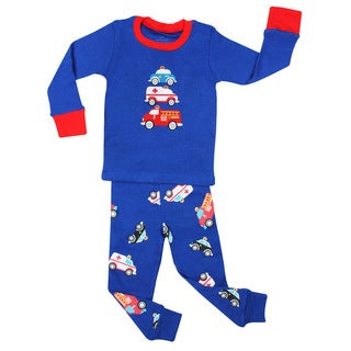 Elowel Emergency Vehicles 2-piece Pajama Set (Size 2T-8Y)