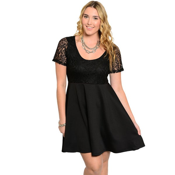 Women'S Plus Size Short Sleeve Dresses 115