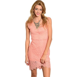 Feellib Women's Sleeveless Lace Short Sheath Dress