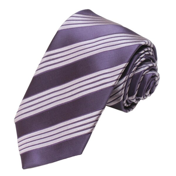 Alara Silk Purple Tonal Striped Tie