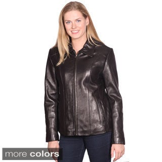 NuBorn Leather Women's Lisa Leather Scuba Jacket