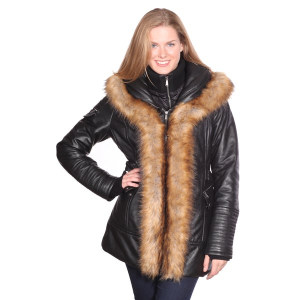 Christian Reed Women's Jenny Leather Parka