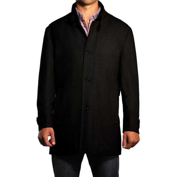 Jean Paul Germain Alpine Overcoat - Black