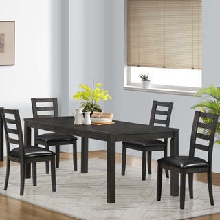 Charcoal Grey Veneer Top Dining Table