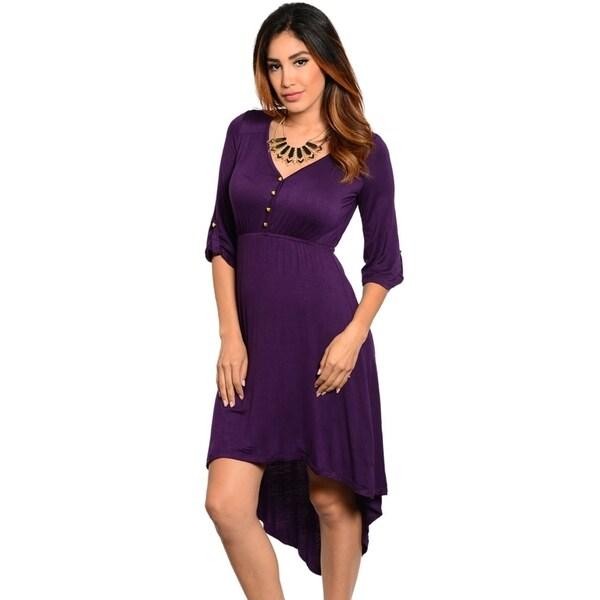 Stanzino Women's 3/4-sleeve High Low Dress