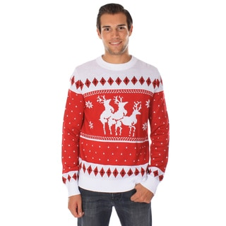 Men's 'Reindeer Menage a Trois' Ugly Christmas Sweater