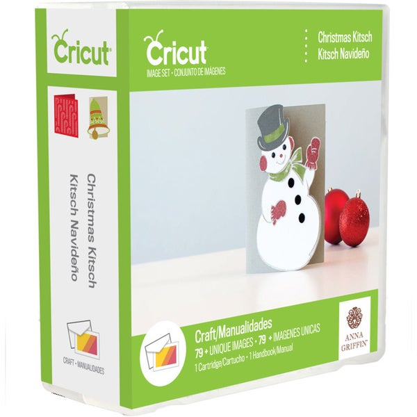 Cricut Project Cartridge-Christmas Kitsch Card By Anna Griffin