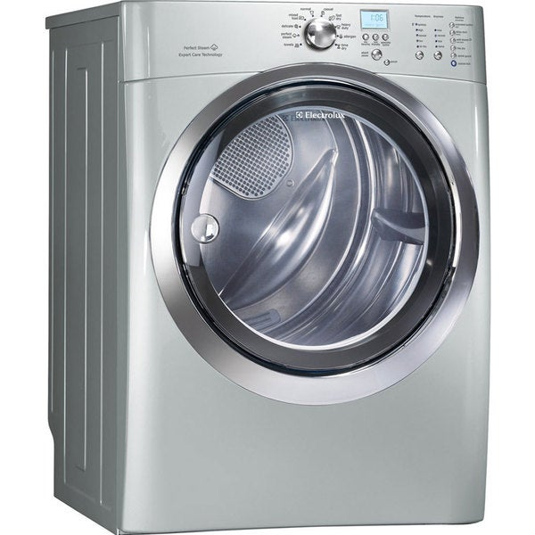 Electrolux 27-inch Gas Dryer with 8.0 cubic feet Capacity Silver