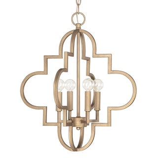 Capital Lighting Ellis Collection 4-light Brushed Gold Pendant Light