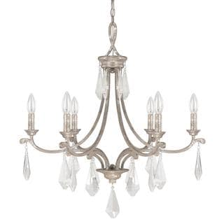Capital Lighting Harlow Collection 6-light Painted Silver Quartz Chandelier Light