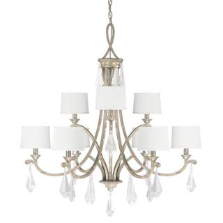 Capital Lighting Harlow Collection 9-light Painted Silver Quartz Chandelier Light