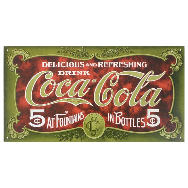 Vintage Metal Art 'Coke 1900s' Decorative Tin Sign