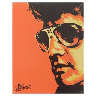 Vintage Metal Art 'Elvis Tigerman' Decorative Tin Sign