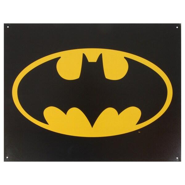 Vintage Metal Art 'Batman Logo' Decorative Tin Sign 14301212