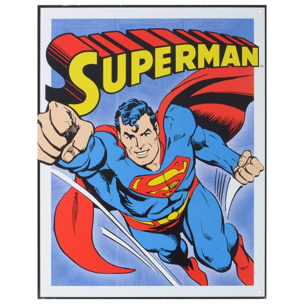 Vintage Metal Art 'Superman Retro' Decorative Tin Sign
