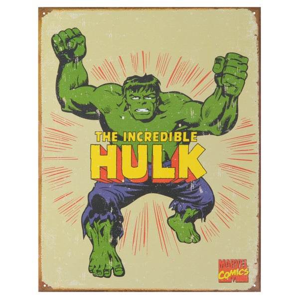 Vintage Metal Art 'Hulk Retro' Decorative Tin Sign