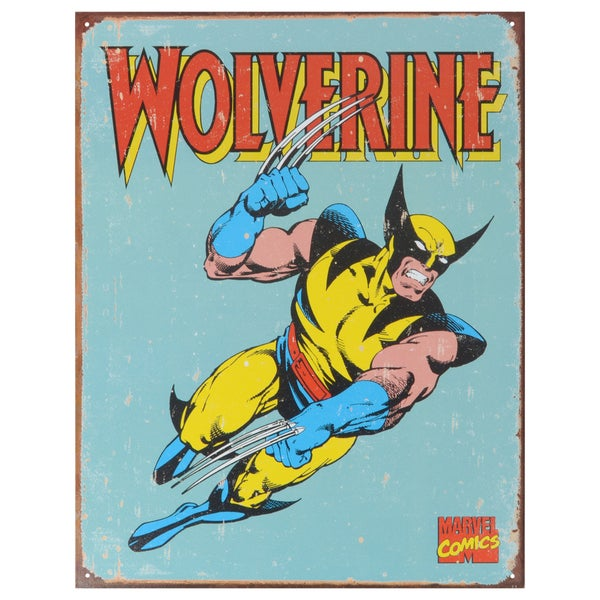 Vintage Metal Art 'Wolverine Retro' Decorative Tin Sign 14301230