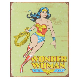 Vintage Metal Art 'Wonder Woman Retro' Decorative Tin Sign
