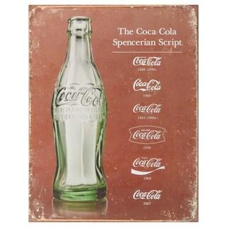 Vintage Metal Art 'Coke Script Heritage' Decorative Tin Sign