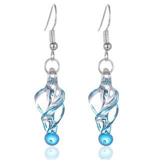 Bleek2Sheek Murano Inspired Glass Twirl Earrings