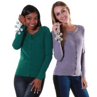 Hadari's Women's Crochet Neck Cardigans (Set of 2)